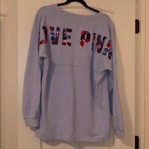 Long sleeve pink sweater